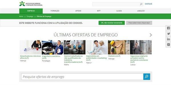 Ofertas de emprego no IEFP